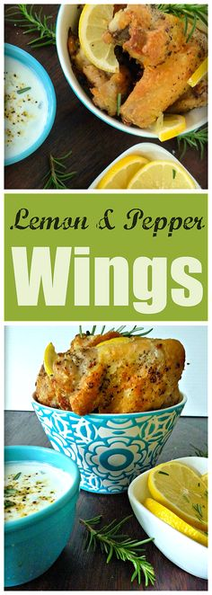 Delicious Lemon & Pepper Wings with Rosemary are going to be a new favorite of yours combining a deliciously fresh homemade Lemon, Pepper and Rosemary seasoning with crispy wings to cut down on your fat intake what's not to love?