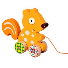 Woodours Wood Squirrel Pull Toy:Amazon:Baby
