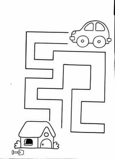 Handwriting for kids Mazes For Kids Printable, Printable Preschool Worksheets, Kindergarten Worksheets, Worksheets For Kids, Numbers Preschool, Preschool Learning, Fun Activities For Toddlers, Preschool Activities, Maze Worksheet
