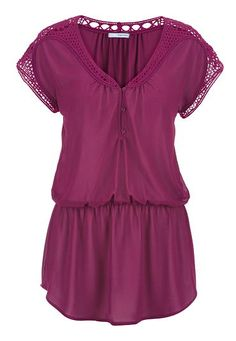 chiffon tunic with crochet (original price, $29) available at #Maurices