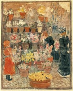 Roma Flower Stall, by Maurice Prendergast. Circa, 1898.