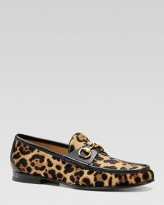 Gucci Roos 1953 Horsebit Loafers in Jaguar Printed Leather