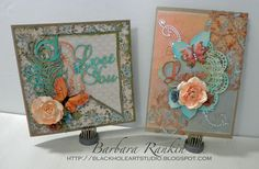 Black Hole Art Studio: Mixed Media Cards: Romance #decoartprojects #decoartmedia #mixedmedia