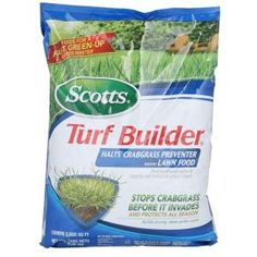 Scotts Turf Builder Fertilizer with Halts Crabgrass Preventer 5,000 sq. ft. 32367D at The Home Depot - Mobile