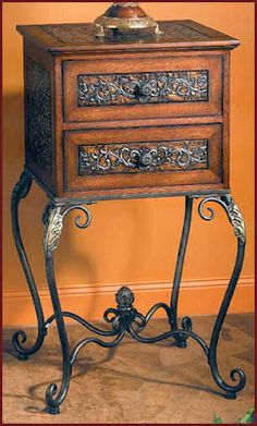 Beautiful Hacienda Decorative Chest on Stand from Accents of Salado