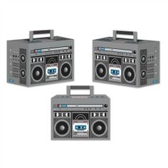 Feel The Beat BOOM BOX (3) Party Favor Boxes*Decoration*80's Party*HIP HOP*