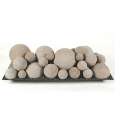 Ceramic Fireplace Fire Balls in Mixed Sizes for Gas or Propane Propane Fireplace, Gas Fireplace Logs, Rock Fireplaces, Fireplace Inserts, Fireplace Design, Fireplace Redo, Gas Logs, Fireplace Remodel, Electric Fireplace