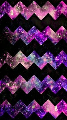 Pink & purple Chevron galaxy iPhone/Android wallpaper I created for the app CocoPPa!