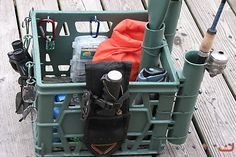 kayak crates | Gallery - Category: Rigged Kayak Photos - Image: my kayak & crate