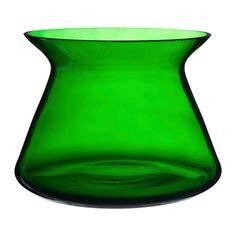 BJÖRKSNÄS Vas, glas grön