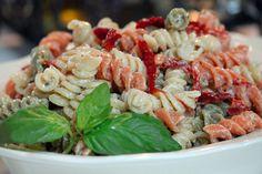 Sun Dried Tomato Basil Pasta Salad