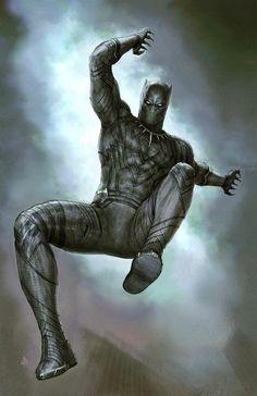 Captain America: Civil War - Black Panther Marvel Comics Poster - 61 x 91 cm Marvel Art, Marvel Heroes, Marvel Avengers, Black Panther King, Black Panther Marvel, Wakanda Marvel, Panther Pictures, Starwars, Black Widow