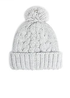 MANGO - ACCESSORIES - Hats, Gloves and Scarves - Pom pom cable-knit beanie