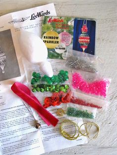 Vintage Lee Wards DIY Rainbow Sparkler Ornament Kit by cattales