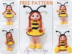 Amigurumi Bee Girl Free Pattern | Tiny Mini Design