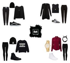 1MILLION DANCE STUDIO #1 by kariina-sykes on Polyvore featuring moda, Monsoon, RED Valentino, T By Alexander Wang, Topshop, New Look, Wolford, Converse, adidas and Vans