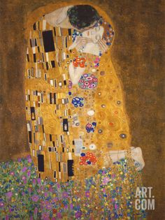 The Kiss, .by KLIMT - one of my very all time FAVORITE pieces of art. I have it at home