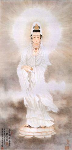 Guan Yin...observing the cries the world with love, kindness, and compassion