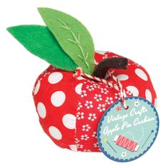 Vintage Crafts Red Apple Pin Cushion | DotComGiftShop