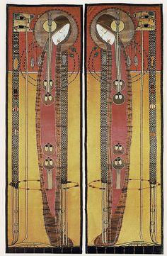 Margaret Macdonald. Embroidered hanging design, produced in 1902. (The Textile Blog, John Hopper, flickr)