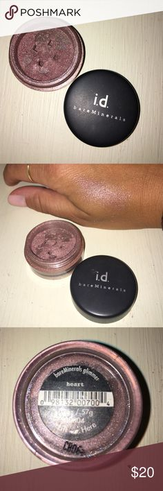 Bare Minerals eyeshadow- heart Bare Minerals loose eyeshadow in pot- shimmery pink/tan/mauve. bareMinerals Makeup Eyeshadow