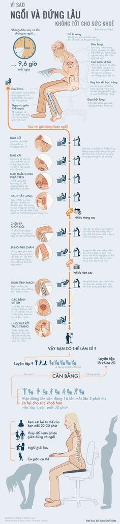 [Infographic] Vì sao ngồi và đứng lâu không tốt cho sức khoẻ - 33168 Xem, 27 Thích, 51 Trả lời