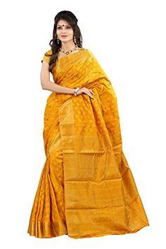 Mimosa Women Art Silk Kanjivaram Saree (2038-Mgold _Gold _Free Size) - http://www.onlinesaleindia.in/product/mimosa-women-art-silk-kanjivaram-saree-2038-mgold-_gold-_free-size/