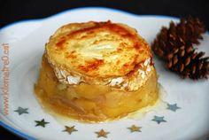 Gratinat de formatge de cabra amb poma / Gratinado de queso de cabra con manzana