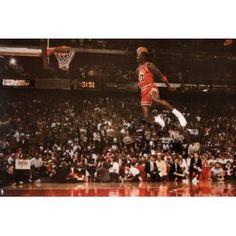 #10: Michael Jordan Famous Foul Line Dunk Vintage Sports Poster Print - 24x36.
