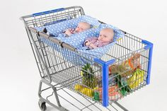 Binxy Baby Shopping Cart Hammock- Multiple Colors - Cute as a Button Baby Boutique - 3