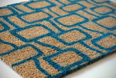 """DIY: Paint your own doormat. I want to make the """"come in - go away"""" welcome mat, pinned next."""