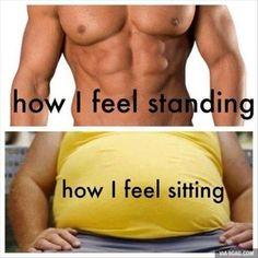 So true!!! It's like it flattens out!!!! lol