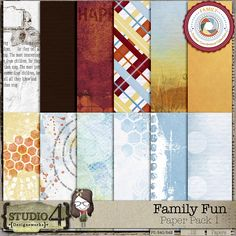 Personal Use :: Paper Packs :: Family Fun Paper Pack 1