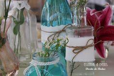 DECORACION Mesas PARÁME Matrimonios Campestres - Búsqueda de Google Glass Vase, Wedding Ideas, Weddings, Table Decorations, Google, Home Decor, Rustic Style, Meet, Decoration Home