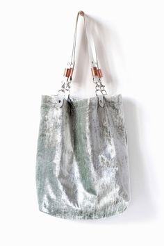 I mean... Crushed Velvet Tote bag by CORIUMI on Etsy