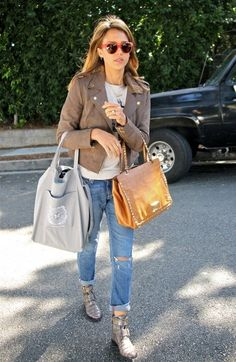 'Barely Lethal' actress Jessica Alba leaving a friend's house in Brentwood, California on October 11, 2013.
