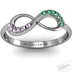 Infinity Accent Ring #jewlr  I want this ring in memory of my husband.