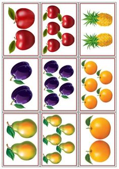"Didakmicheskaya game ""dva-pyam"" Source by Preschool Education, Preschool Worksheets, Preschool Learning, Learning Activities, Teaching Kids, Math For Kids, Crafts For Kids, Fruits Images, Montessori Math"