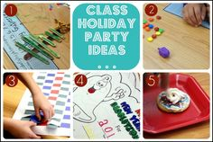 Elementary School Class Holiday party ideas- complete with lesson plans, activities and sign up sheets!
