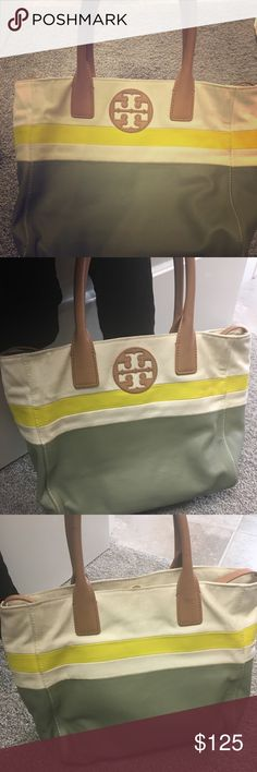 Tory Burch Bag! One of my favorites! One of my favorite fun Tory Burch bags! Great summer or fall bag. Purchased at Nordstroms and I love it! Sad to see it go but purging my closet! Tory Burch Bags