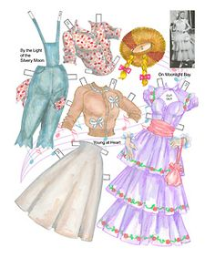 Elegant eveningwear and wigs for Doris Day paper dolls. Description from pinterest.com. I searched for this on bing.com/images