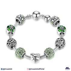 f93917bf4 Every girl loves hearts and flowers! This antique silver charm bracelet  with heart &