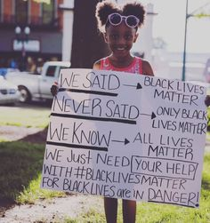 This photo explains it perfectly. ✊🏿✊🏾✊🏽✊🏼✊🏻✊ I'm not sure who to credit for this photo, so if someone knows please let me know! #blacklivesmatter