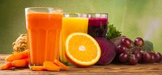 A juice fast is essentially a short-term fast that involves drinking juice from fruit, vegetables, and herbs in order to effectively remove toxins from your body and boost your immune system function and overall health. Healthy Juice Recipes, Healthy Juices, Healthy Drinks, Juice Plus, Sumo Detox, Liver Flush, Veg Restaurant, Veggie Juice, Juicing Benefits