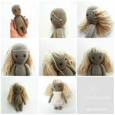 Онлайн МК Вяжем Амигуруми Куклу Волосы