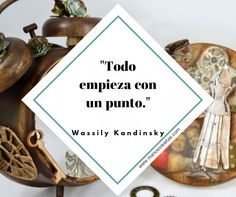 ¡Buenos días!  Para muchos, un punto significa el final de una etapa pero para nosotros, es tan sólo el comienzo.  ¡Amanecimos inspirados con Kandinsky!  #Inspiration #Inspiración #Creatividad #Creativity #InspirationalQuotes #Quotes #Citas #FrasesCélebres #Frases #Phrases #Kandinsky #WassilyKandinsky #Art #Arte