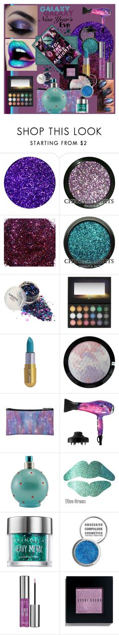 """New Year's Eve - Galaxy"" by sinupgirl ❤ liked on Polyvore featuring beauty, Lime Crime, Winky Lux, Eva NYC, Britney Spears, Urban Decay, Obsessive Compulsive Cosmetics, Bobbi Brown Cosmetics and nyebeauty"