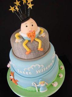 Humpty Dumpty Birthday Cake by The Big Wedding Cake Company Second Birthday Cakes, Novelty Birthday Cakes, Cute Birthday Cakes, Boy Birthday Parties, Nursery Rhyme Party, Nursery Rhymes, Big Wedding Cakes, Baby Boy Cakes, Humpty Dumpty