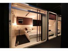 First Cabin Hakata Fukuoka, Japan Sleep Box, Sleeping Pods, Capsule Hotel, Bunk Rooms, Futuristic Interior, Bunk Bed Designs, Dormitory, Cool Rooms, Hostel