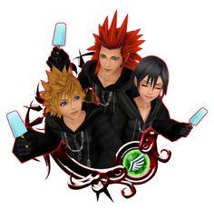 Roxas & Axel & Xion - Kingdom Hearts Unchained χ Wiki